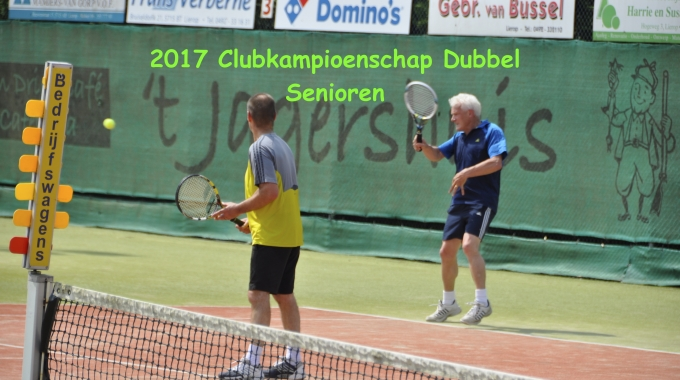 Clubkampioenschap Dubbel Senioren 2017