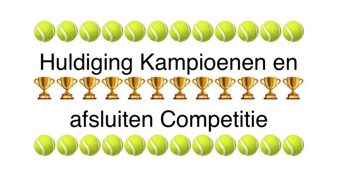 Huldigen Kampioenen en Afsluiten Voorjaarscompetitie 2017