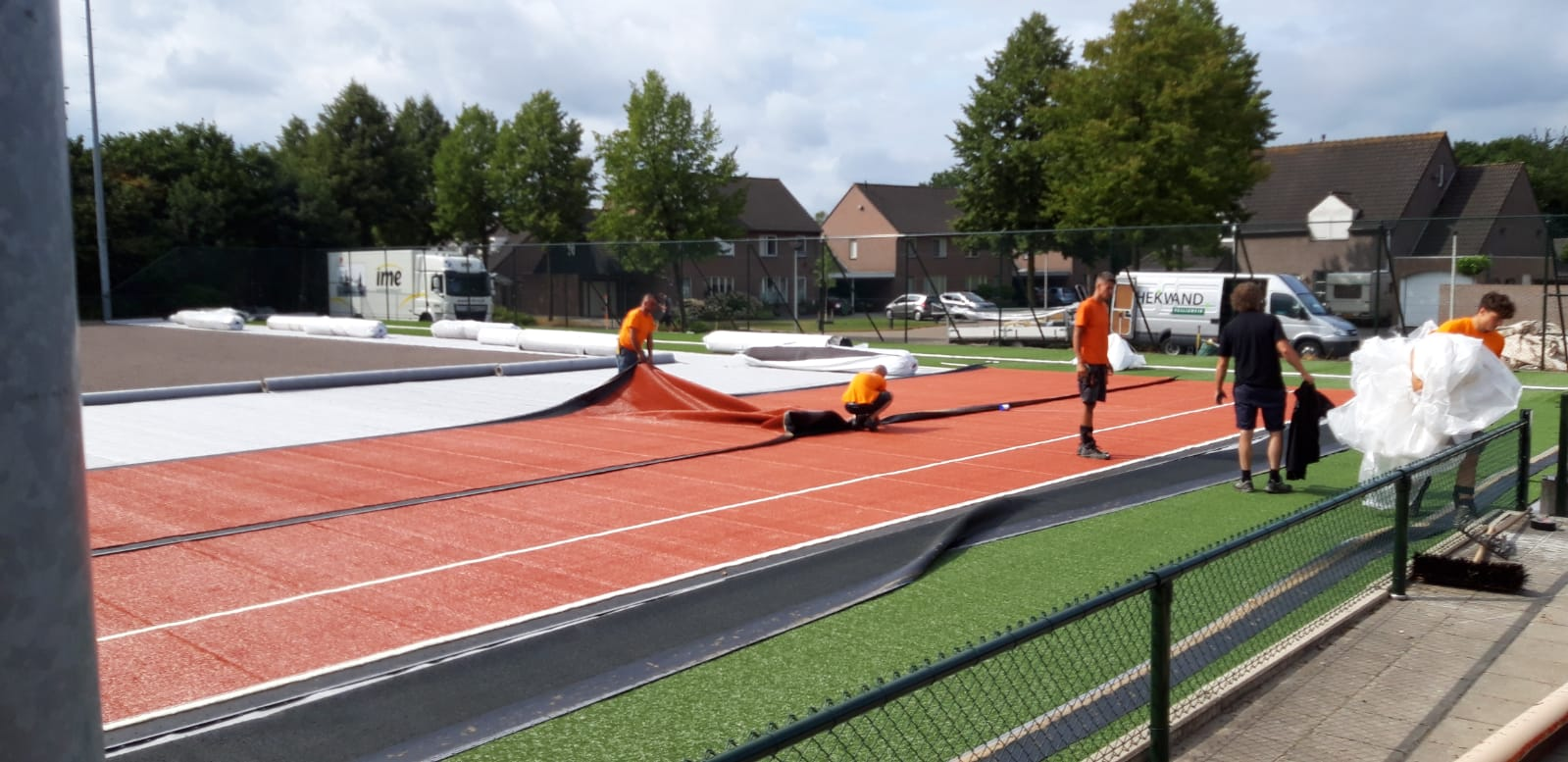 Renovatie tennispark