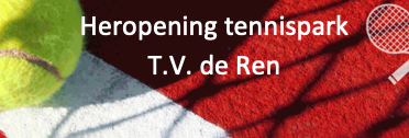 Schema bekend! Heropening tennispark
