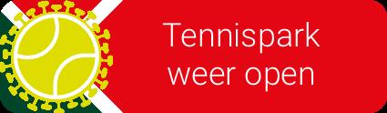 Tennispark is onder voorwaarden open